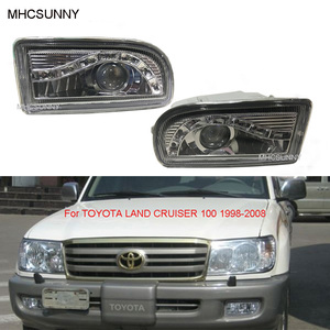 1 Set LED Front Bumper Fog Light For TOYOTA LAND CRUISER 100 1998-2008 4700 LC100 UZJ100 FZJ100 HDJ100 DRL Driving Headlights