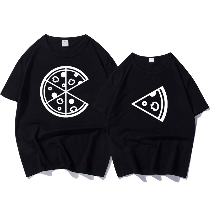 2020 New Arrival Fashion Women And Men T-shirt Pizza Printesd Funny T Shirt Women Loose Summer Top Couple T-shirt For Lovers Tee