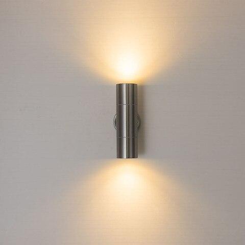 exterior com gu10 bulbo substituir dois lados led porch luzes