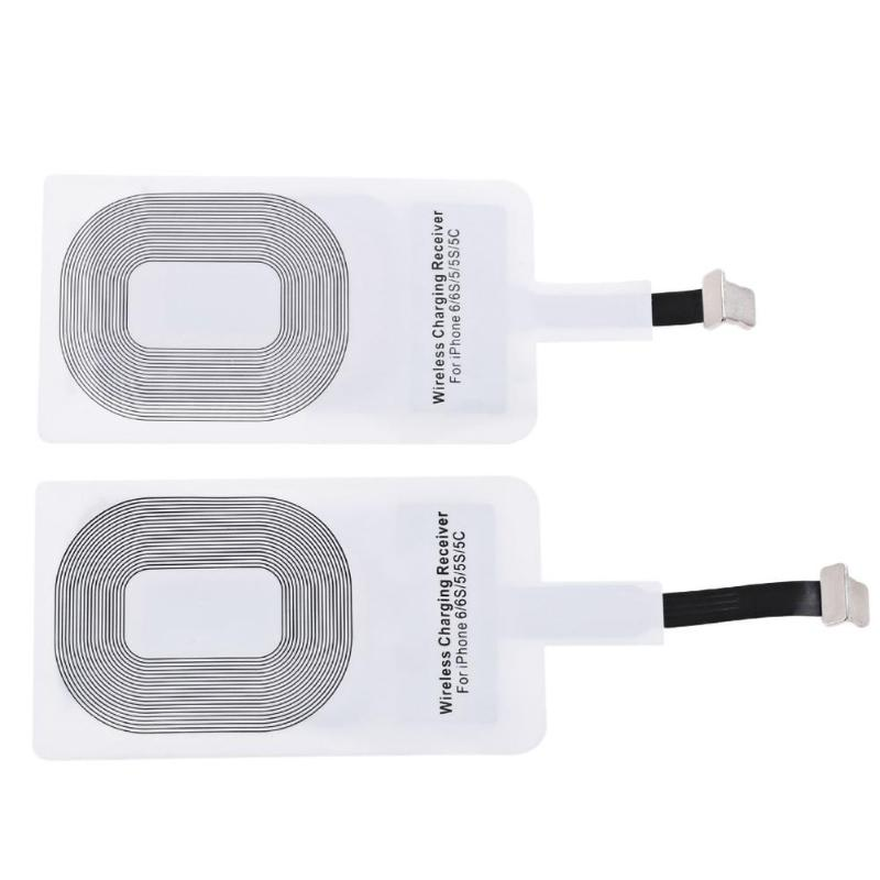 Ultra Thin Qi Standard Wireless Charging Coil Receiver Pad For IPhone 5 5S 6Plus 6S 6SPlus 7 8 7Plus Smart Charging Adapter