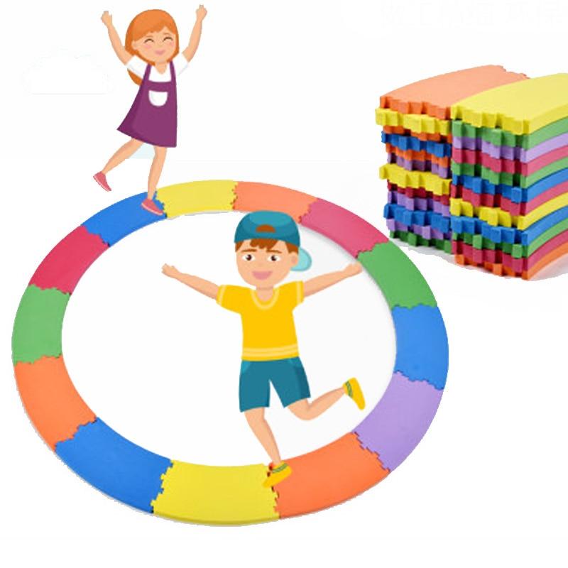 24Pcs EVA Foam Balance Board Children Sports Toys Kids Games Curved Single-Plank Bridge Gymnastics Training Sensory Integration