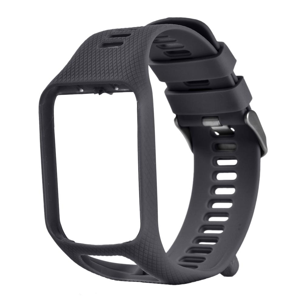 Watchband for TomTom 2 3 SPARK Series Runner 2 3 Series Golfer 2 Series Adventurer GPS Watch Silicone Replacement Strap