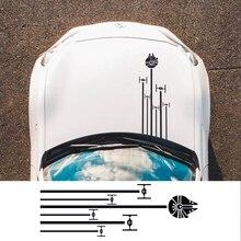 Накладка на капот автомобиля Наклейка Автомобильная виниловая пленка наклейки стильная графика Сделай Сам Стайлинг украшения автомобиля Стайлинг автомобиля Принадлежности для тюнинга
