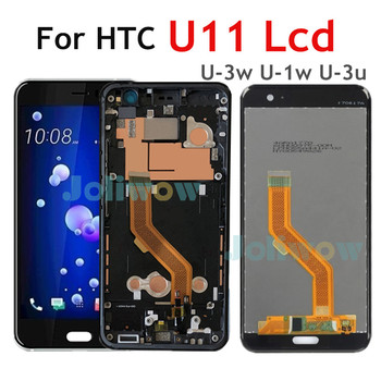"""5.5"""" Original LCD For HTC U11 LCD Display Touch Screen Digitizer Assembly with Frame Replacement For HTC U-3w U-1w U-3u LCD"""