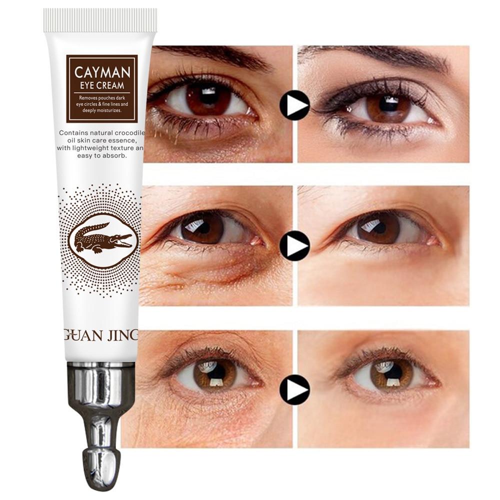 Crocodile Anti-Aging Wrinkles Eye Cream Hyaluronic Acid Gel Whitening Moisturizing Remove Dark Circles Puffiness Cayman Cream