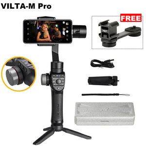 Freevision Vilta-M/Vilta-M Pro 3 Axis Handheld Gimbal Stabilizer Portable Gimbal for iPhone Andriod Smartphones for GoPro HERO(China)