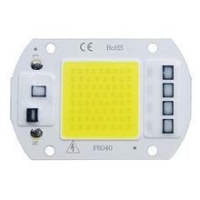 COB LED лампа чип AC 220V LED Bulb 10W 20W 30W 50W IP65 High Power Smart IC DIY Flood Light Bulb Spotlight Outdoor Chip Lamp