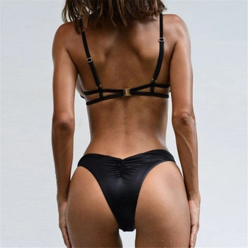 Aiqi 2021 New Sexy Swimsuit Double-Layer Nylon Fabric With Steel Support Gathered Bikini Multicolor Beachwear 2