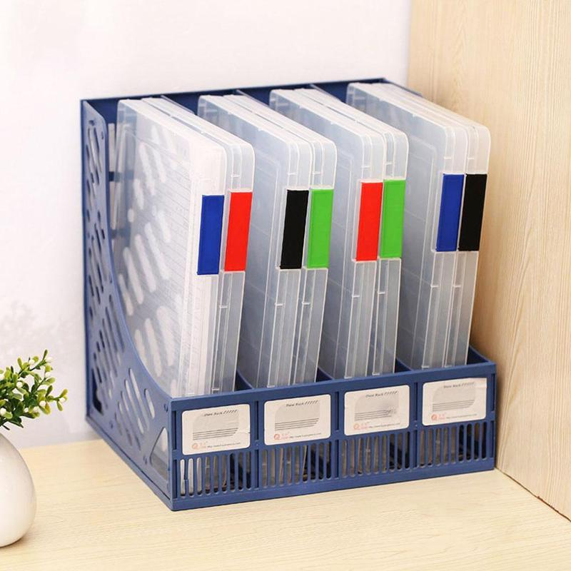 A4 Transparent Storage Box Clear Plastic Document Paper Filling Case File Waterproof Practical Storage Organizer Office School