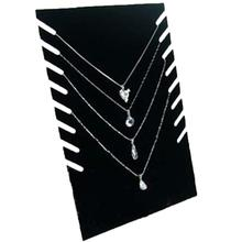 Velvet Jewelry Display Stand Necklace Pendant Chain Bracelet Organize Holder Plate Show Rack