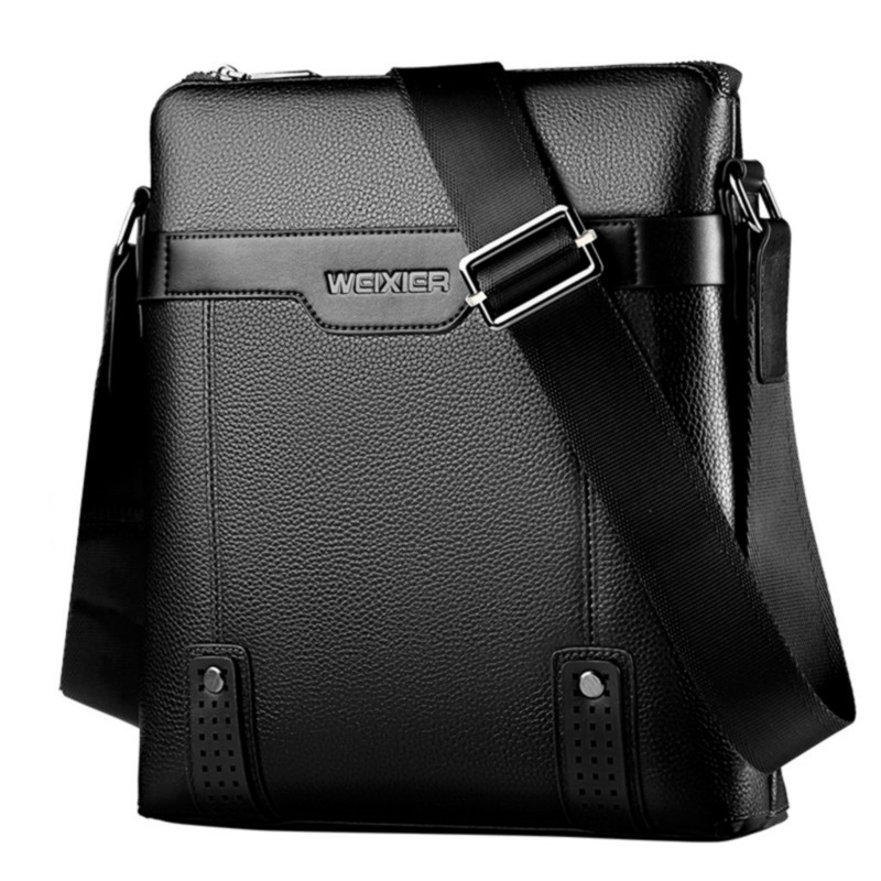 Mens Briefcases Business Bag Fashion Vintage Shoulder Bags Crossbody Bags New 2019 Men Handbags Soft Leather Waterproof 2.5