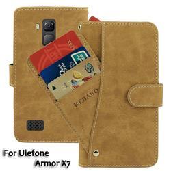 На Алиэкспресс купить чехол для смартфона vintage leather wallet ulefone armor x7 case 5дюйм. flip luxury card slots cover magnet phone protective cases bags