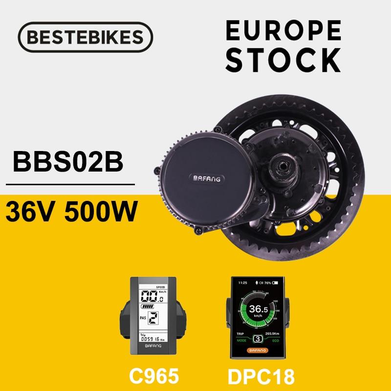 Bafang BBS02B BBS02 е-байка 36В 500 Вт середине приводной двигатель 8fun велосипедного электрического мотоцикла или электровелосипеда Conversion Kit DPC18 C965 , фа...