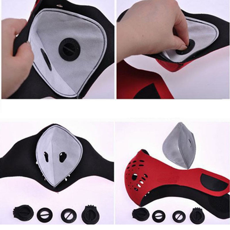 Cycling Mask Gasket Face Masks Filter Activated Carbon Breathing Filters Pm2 5 Accessories Filters Air Valve
