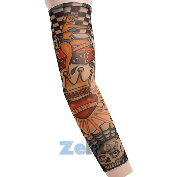 1 Pcs Women Men Print Arm Warmers Cuff Sleeve Cover UV Sun Protection For Outdoor Sports