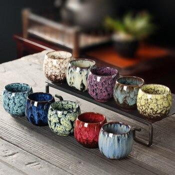 JIA-GUI LUO  110ML Ceramic Tea Cups Tazas De Ceramica Creativas Coffee China Cup Kiln Change I073