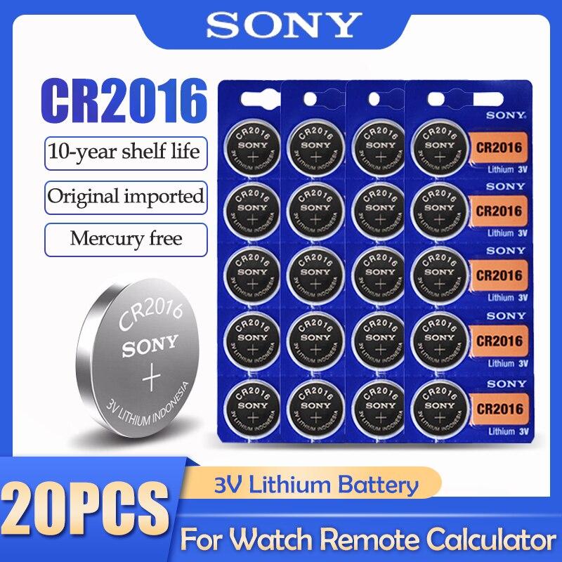 20 шт./лот Sony CR2016 CR 2016 DL2016 LM2016 BR2016 ECR2016 3V литиевая батарея для часов калькулятор пульт дистанционного управления Часовые батарейки      АлиЭкспресс
