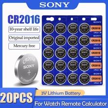20 шт./лот Sony CR2016 CR 2016 DL2016 LM2016 BR2016 ECR2016 3V литиевая батарея для часов калькулятор пульт дистанционного управления
