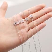 Tiny Trendy Cubic Zirconia Crystal Initial Letter Bracelet Quality Cz Paved A To Z Adjustable Bracelets For Women Girls Jewelry