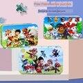 Жестяная коробка деревянные головоломки игрушки для детей с рисунком из мультфильма «Щенячий патруль» из деревянные головоломки для детей...