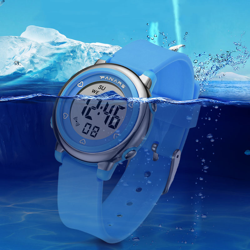 Children Watches For Boys Girls Kids Digital Wacth Multifunctional LED Colorful 50M Waterproof Clock Sports Alarm Wristwatches