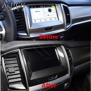 Image 3 - Carbon Fiber Color Inner Center Navigation frame Cover for Ford Ranger Everest Endeavour 2015 2016 2017 2018 2019 2020