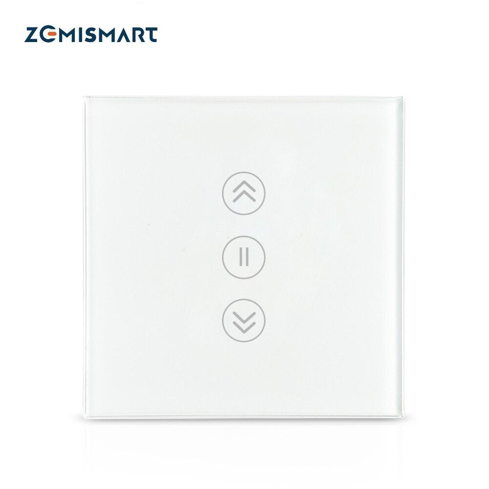 [ Backlight Optional ] Zemismart WiFi Curtain Switch Electric Smart Rolller Shade Switches TUYA Alexa Google Home Voice Control