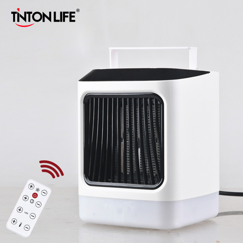 Fan Heater Hot Air Portable Handle Remote Intelligent Control CNC Display Colorful Nightlight Intelligent Timing