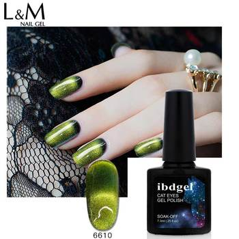 12 pcs/lot ibdge Nail Gel Polish UV LED NEW 9D Cat Eye series Magnetic Magic Art Nails gel soak off (1base+10 cat eye +1top) Art