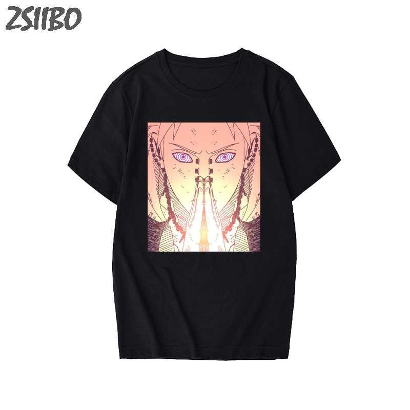 男性の tシャツユニセックスナルト痛みうちはマダラクール半袖 tシャツ日本アニメおかしい印刷原宿ストリート Tシャツ