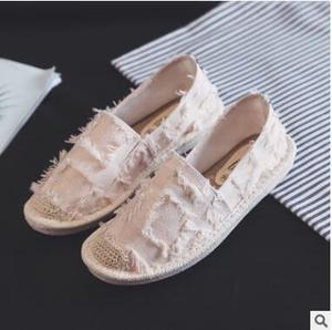 Image 5 - Kobiety mieszkania balerinki Slip On w stylu Casual, damska na płótnie buty mokasyny oddychające kobiet espadryle jazdy obuwie Zapatos Muje