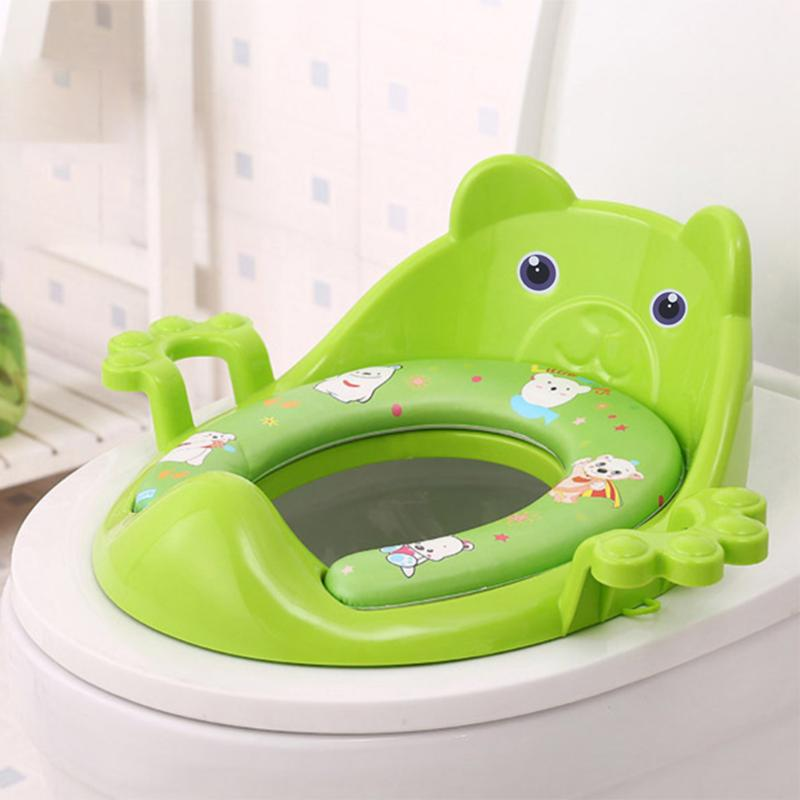 Cartoon Baby Toilet Training Potties Seats Kids Potty Seat With Armrests Potty Cushion Pad