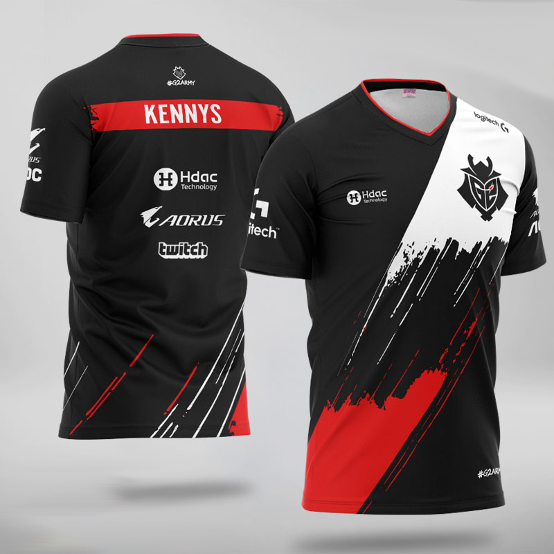 Tshirt Men Jersey-Uniform Team-Jerseys Lol LEC Pro-Player Custom G2 Esports Women Caps