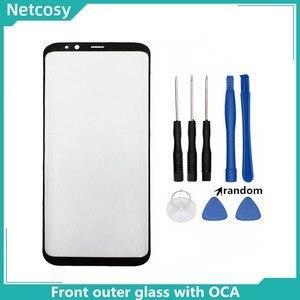 Image 1 - S8 S8 artı S9 not 8 not 9 10 ön dış cam lens kapağı ile OCA tutkal Samsung Galaxy S10 S10 artı LCD cam araçları