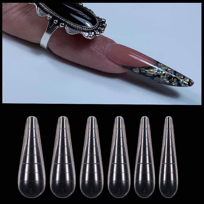 Типсы быстрое строительство пресс-форм двойная форма накладные ногти для ног, многоразовые ясные маникюрные инструменты для наращивание г...