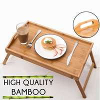 Portable Bamboo Sofa Bed Tray Picnic Dining Table Computer Stand Laptop Desk Notebook Desk Laptop Table Studying Table For Bed   -