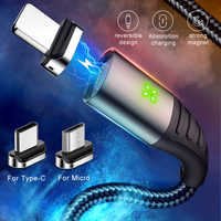 MCDODO 3A USB Magnetic Cable Fast Charging Micro USB Charger Cord Magnet Type C Phone Cable For iPhone XS MAX Android Samsung