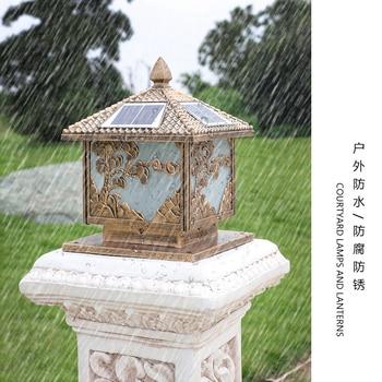 Lámpara Solar nueva, simple y moderna, para exteriores, para patio, lámpara de pared, poste, jardín, villa, puerta, poste, lámpara Pilar