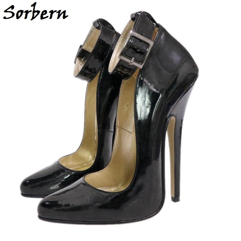 Sorbern Wide Ankle Strap Women Pump