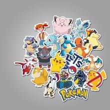 50Pcs/pack Pokemons Cartoon Stickers For Luggage Skateboard Phone Laptop Moto Bicycle Wall Guitar Sticker DIY Waterproof Sticker