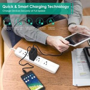 Image 2 - Prise ue originale Aukey Charge rapide PA Y2 ampères type c avec Charge rapide 3.0 double Charge USB Fsat