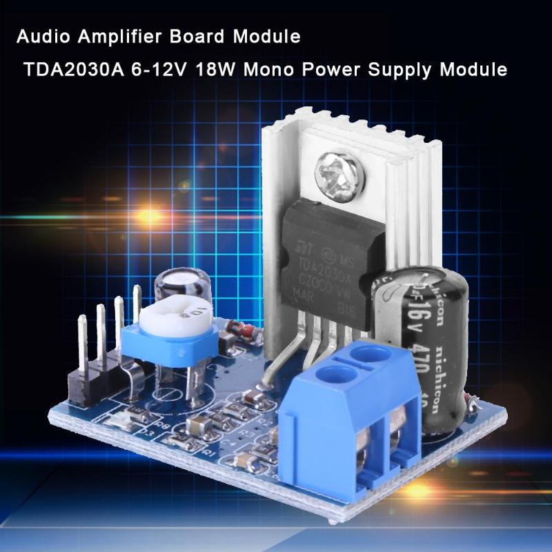 TDA2030A Audio Amplifier Module Power Amplifier Board AMP 6-12V 1*18W Pip US