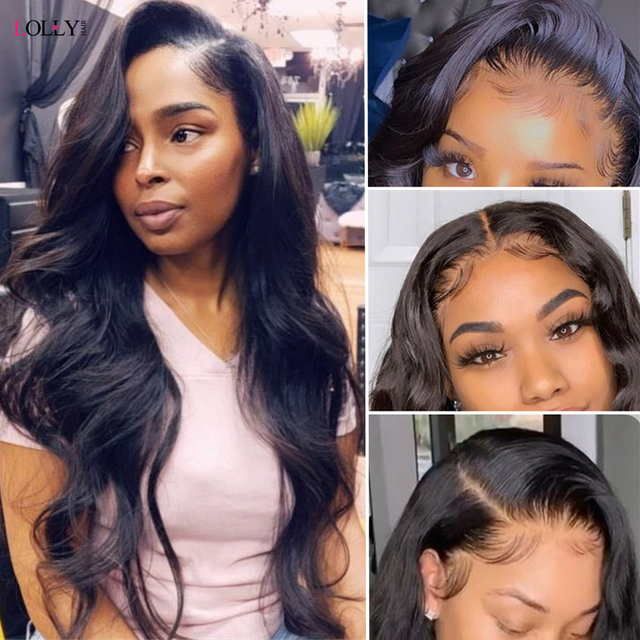 Transparent Lace Frontal Wig  Brazilian Closure Wig Remy 2