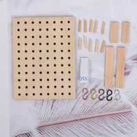 1 Set 1:12 miniatura casa de muñecas de madera agujero junta de almacenamiento estante, accesorios para mobiliario de Casa de muñeca juguetes para los niños