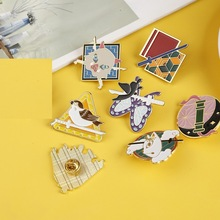 Demon Slayer: Kimetsu no Yaiba Metal Enamel Pin Lapel Pins Badges for Clothes Bag Shirt Hat Decorative Anime Jewelry Wholesale