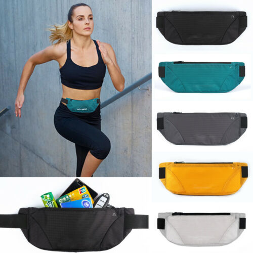 Mens Womens Sporty Waist  Packs Nylon Hip Belt Bag Purse Pouch Travel Bum Zipper Change Card Key Storage Bag