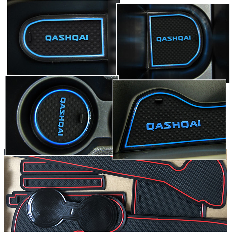 lowest price For Nissan Qashqai J10 2007 20018 2009 2010 2011 2012 2013 Anti-Slip Gate Slot Pad Rubber Cup Mat Accessories Car Stickers
