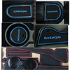 For Nissan Qashqai J10 2007 20018 2009 2010 2011 2012 2013 Anti-Slip Gate Slot Pad Rubber Cup Mat Accessories Car Stickers promo
