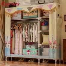 COSTWAY armoire en tissu pour vêtements, placard Portable pliable, armoire de rangement, meubles de maison de chambre à coucher