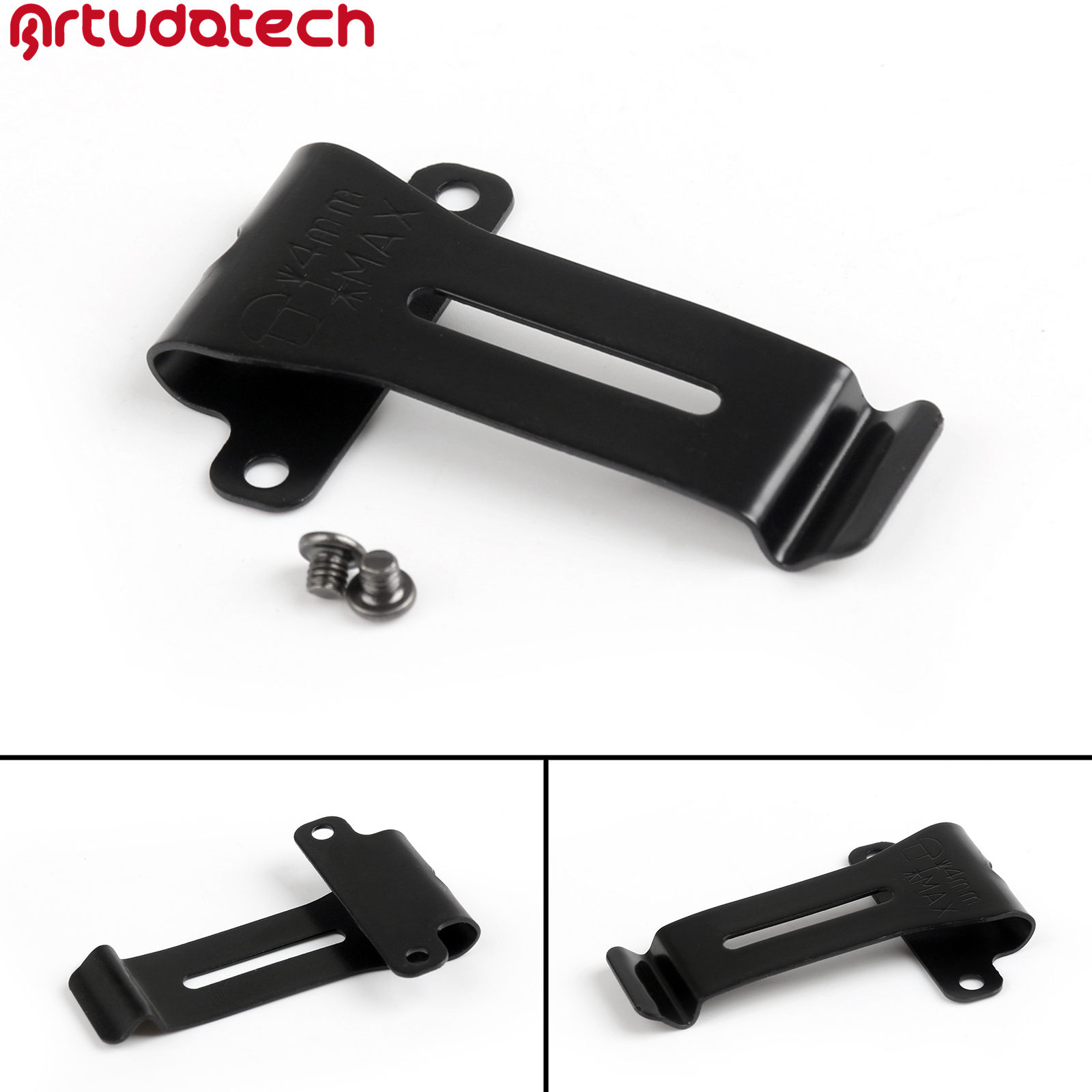 Artudatech 1x Metal Belt Clip For Kenwood TK-208 TK-308 TH-22AT TH-42AT BF-888S BF-666s BF-777S Accessories